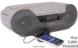 Sony CFD-S05 CD Radio Cassette Recorder with Auxiliary Cord (6 feet)