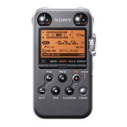 Sony PCM-M10 Portable Linear PCM Voice Recorder with Electret Condenser Stereo Microphones, 96 kHz/24-bit, 4GB Memory & USB High-Speed Port – Black