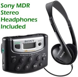 Sony Walkman Digital Tuning Portable Palm Size AM/FM Stereo Radio (Black)