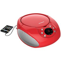Sylvania Portable CD Boombox with AM/FM Radio (Red)