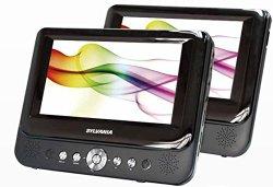 Sylvania SDVD9957 Portable DVD Player with Dual 9″ Screen (Black)