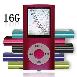 Tomameri Red Color Portable MP4 Player MP3 Player Video Player with Photo Viewer , E-Book Reader , Voice Recorder + 16 GB Micro SD Card