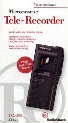 TRC-300 Voice Activated Microcassette Tele-Recorder