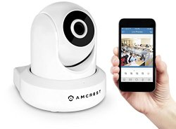 Amcrest ProHD 1080P WiFi Security Monitoring System – Wireless IP Camera Pan/Tilt