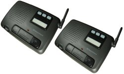 Digital 3-Channel FM Wireless Intercom System for Home and Office, 2-Station
