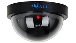 Dummy Fake Security CCTV Dome Camera with Flashing Red LED Light