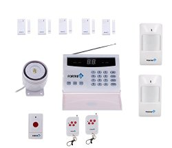 Fortress Security Store (TM) S02-A Wireless Home Security Alarm System DIY Kit with Auto Dial