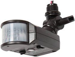 Lithonia Lighting OMS 1000 120 DDB M6 180-Degree Detection Zone Bronze Outdoor Motion Sensor Retrofit Kit, Bronze