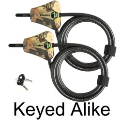 Master Lock – Python Trail Camera Adjustable Camouflage Cable Locks 8418KA-2 CAMO