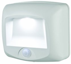 Mr. Beams MB 530 Battery-Operated Indoor/Outdoor Motion-Sensing LED Step Light, White