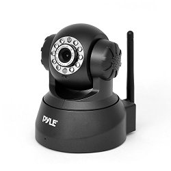Pyle PIPCAM5 Wireless IP Security Surveillance Camera with PTZ: Pan and Tilt Control