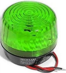 Seco-Larm Enforcer Xenon Strobe Light, 12VDC, Green Lens (SL-126Q/G)