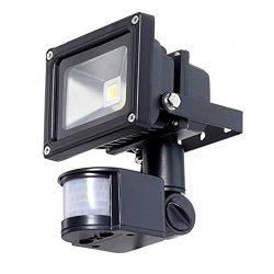 TorchStar 10W Outdoor PIR LED Security Light Flood Light – 39ft Detection Range 180 Degree PIR Motion Sensor – Warm White – Waterproof IP65