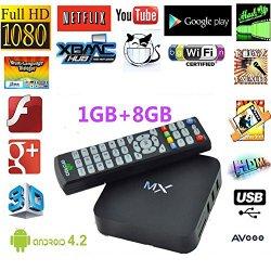 DIAOTEC MX Android 4.2 Jelly Bean Dual Core XBMC Streaming Mini HTPC TV Box Player