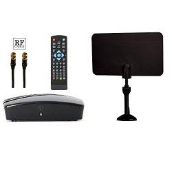 Digital Converter Box + Digital Antenna + RF and RCA Cable