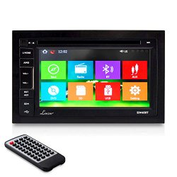 Lanzar SDN65BT 6.5-Inch Video Headunit Receiver Bluetooth Wireless Streaming CD/DVD Player Touch Screen Double DIN
