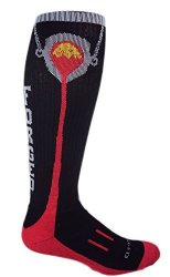 MOXY Socks Black with Red Knee-High Foundry Forged Fitness Socks