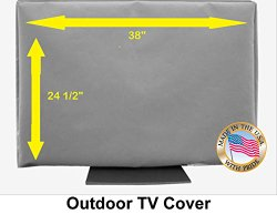 38″ Outdoor TV Cover *Top Premium Quality* Weather Resistant* Soft Non Scratch Interior* Made In USA* (Televisions up to 42″)