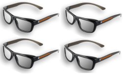 4 pairs – Adult Passive 3D Glasses Genuine eDimensional Sealed RealD Compatible