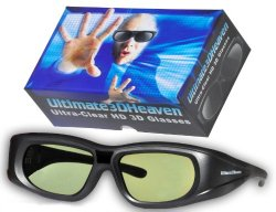 Adult Epson ELPGS03 3D Glasses 3D Heaven Rechargeable Compatible 3-D Glasses