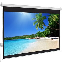 Best Choice Products® Motorized Electric Auto Projector Projection Screen 100″ 4:3 Display Hd
