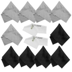 Eco-Fused Microfiber Cleaning Cloths – 10 Cloths and 2 White Cloths