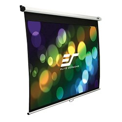 Elite Screens Manual, 100-inch 16:9, Pull Down Projection Manual  Projector Screen with Auto Lock, M100XWH
