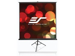 Elite Screens Tripod Series, 136-inch Diagonal 1:1, Portable Pull Up Projector Projection Screen, Model: T136UWS1