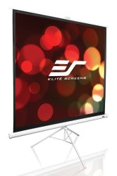 Elite Screens Tripod Series, 99-inch Diagonal 1:1, Portable Pull Up Projector Projection Screen, Model: T99NWS1