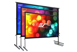 Elite Screens Yard Master 2 Series, 100-inch 16:9, Foldable-Frame Outdoor Front Projection Movie Screen, OMS100H2