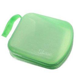 Foxnovo Portable Clear Plastic 40 Cd DVD VCD Disc Holder Storage Box Bag Wallet Case Protector Organizer (Green)