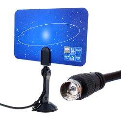 Hotouch Ultra-Thin Indoor HDTV Antenna Plus Antenna Amplifier DTV Box