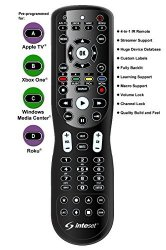 Inteset 4-in-1 Universal Backlit IR Learning Remote for use with Apple TV®, Xbox One®, Roku® & Media Center®