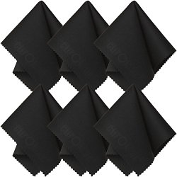 Microfiber Cleaning Cloth (6 Pack) for Lens, Eyeglasses, Glasses, Screen, iPad, iPhone, Tablet, Cell Phone