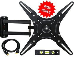 Mount-it! MI-2065L TV Wall Mount Bracket with Full Motion Swing Out Articulating Arm for 23-55 Inches VESA