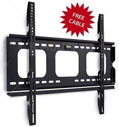 Mount-It! MI-305B Premium Low-Profile Fixed TV Wall Mount Bracket for 32 – 60 inch LCD