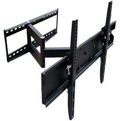 Mount-It! MI-346L Swivel Full Motion Articulating Tilting Swing Out TV Wall Mount Corner Bracket for 32 – 65 inch, Black
