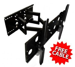 Mount-It! Premium Full-Motion, Heavy-Duty Articulating TV Wall Mount Compatible with LCD, LED TVs (32-Inch to 60-Inches)