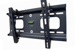 Mount-it! Universal Slim Tilt Adjustable Wall Mount Bracket for TV HDTV Plasma LCD LED (32 – 55 inch screen / VESA up to 400×200 / 0 – 10 degree down tilt / Up to 165lbs)