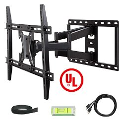 Mounting Dream UL Certified MD2296 TV Wall Mount Bracket with Full Motion Dual Articulating Arm