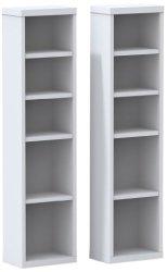 Nexera 211003 Liber-T CD/DVD Storage Towers, White, Set of 2