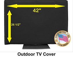 Outdoor TV Cover (42, Black (Not for Direct Sun))