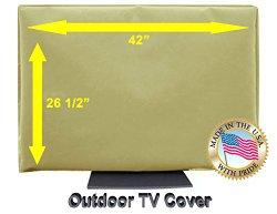 Outdoor TV Cover (42, Light Beige)