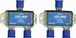 Pack of 2- Holland Dishpro Satellite Diplexer – Dish Approved 2 amp version
