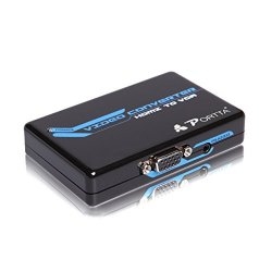 PETHV HDMI to VGA converter with 3.5mm Stereo Audio Converter 1080p