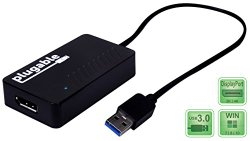 Plugable USB 3.0 to DisplayPort 4K UHD (Ultra-High-Definition) Video Graphics Adapter for Multiple Monitors up to 3840×2160 (Supports Windows 10, 8.1, 8, 7)