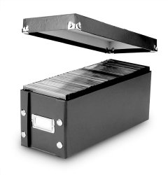 Snap-N-Store CD Storage Box, 13.25 x 5.125 x 5.125 Inches, Black (SNS01521)