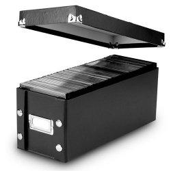 Snap-N-Store CD Storage Boxes, Set of 2 Boxes, Black (SNS01617)
