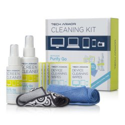 Tech Armor Complete Cleaning Kit with ExtraMove formula and 20 Cleansing Wipes