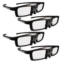 True Depth 3D NEW Firestorm LT Lightweight Rechargeable DLP link 3D Glasses for All 3D Projectors